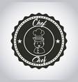 restaurant menu emblem icon vector image