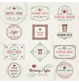 Retro Coffee Labels vector image