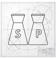 salt and pepper icon vector image vector image
