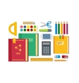 School Education Items on Table vector image