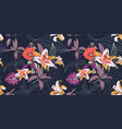seamless artistic flower pattern beautiful vector image