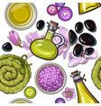 seamless pattern of spa salon accessories vector image