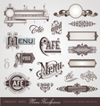 set menu headpieces vector image vector image