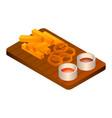 set of beer food icon isometric style vector image