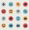 set of simple technology icons vector image vector image