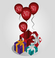 shopping gift boxes vector image vector image