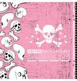 skulls and bones vector image