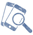 smartphone magnifier search tool fabric textured vector image vector image