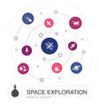 space exploration colored circle concept vector image