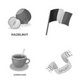 stadium food and other monochrome icon in cartoon vector image vector image