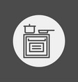 stove icon sign symbol vector image