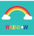 symbol rainbow and clouds vector image vector image