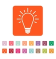 The Light lamp icon Idea symbol Flat vector image vector image