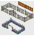 Three types of fence to decorate any location vector image vector image