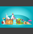 travel destination concept with famous landmarks vector image