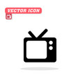 tv icon white background image vector image vector image