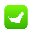 united arab emirates map icon digital green vector image vector image