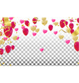 valentines day banner template background vector image