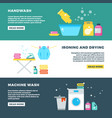 washing and drying clothes laundry service vector image vector image