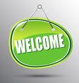 Welcome hanging sign vector image vector image