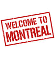 welcome to montreal stamp vector image vector image