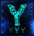 y letter capital digit roentgen x-ray vector image vector image