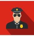 Policeman flat icon vector image