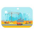 cartoon construction building vector image
