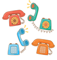 retro telephone cartoon vector image