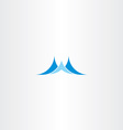 wave blue water logo icon vector image