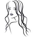 Beautiful young girl vector image