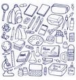 School doodle set vector image