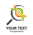 3d search dna line icon symbol and sign design vector image