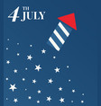 4 th july happy independence day vector image