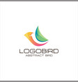 abstract bird logo design creative sign colorful vector image vector image
