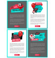 advertising online pages gift boxes shopping sale vector image vector image