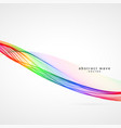 awesome colorful wave background design vector image vector image