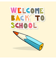 Back to School Background with Pencil vector image