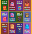 back to school bags of pupils vector image vector image