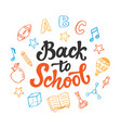back to school banner template school supplies vector image