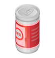 beer tin can icon isometric style vector image vector image
