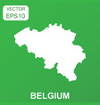 belgium map icon business concept belgium vector image