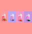 berries smoothie set vector image vector image
