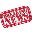 Breaking news stamp vector image vector image