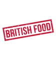British Food rubber stamp vector image