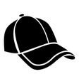 cap icon simple black style vector image vector image