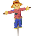 cartoon scarecrow isolated on white background vector image