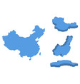 china isometric map country isolated on a white vector image vector image