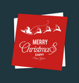 christmas and new year greetings with reindeers vector image