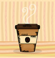 coffee cup plastic container vector image